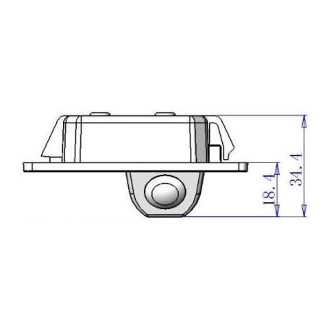 Автомобільна камера заднього виду для Audi TT / A4L Прев'ю 3