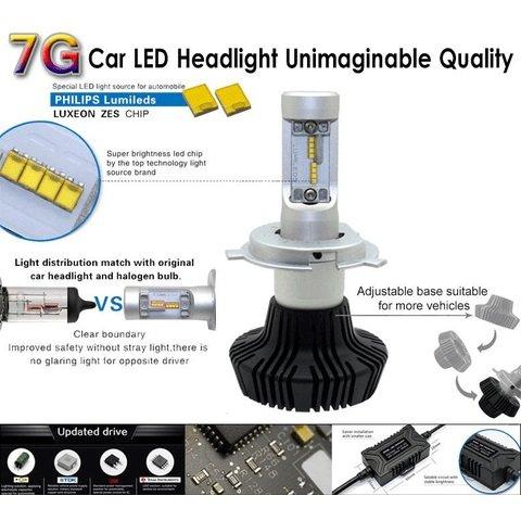 Набір світлодіодного головного світла UP-7HL-H8W-4000Lm (H8, 4000 лм, холодний білий) Прев'ю 2