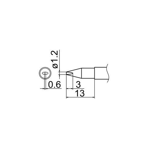 Паяльне жало HAKKO T12-DL12 Прев'ю 4