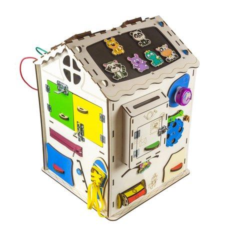 Бизиборд GoodPlay Большой развивающий домик с подсветкой (35×35×50) Превью 6