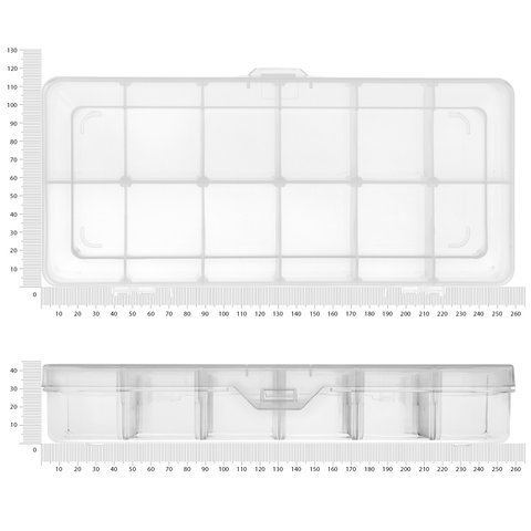 Utility Component Storage Box Pro'sKit 203-132F (260x115x43.5 mm) - Preview 2