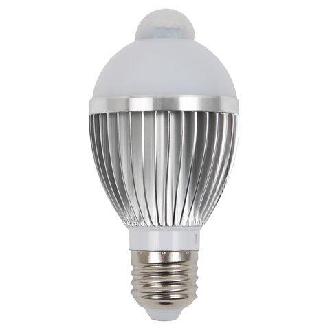 LED Light Bulb 5 W with IR Motion Sensor (cold white, 450 lm, E27) Preview 1