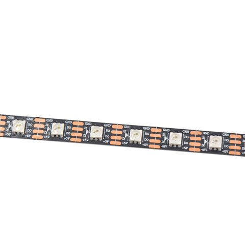 RGB LED Strip SMD5050, WS2813 (with controls, black, IP20, 5 V, 60 LEDs/m, 5 m) Preview 1