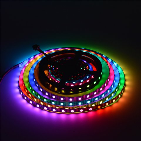RGB LED Strip SMD5050, WS2813 (with controls, black, IP20, 5 V, 60 LEDs/m, 5 m) Preview 2